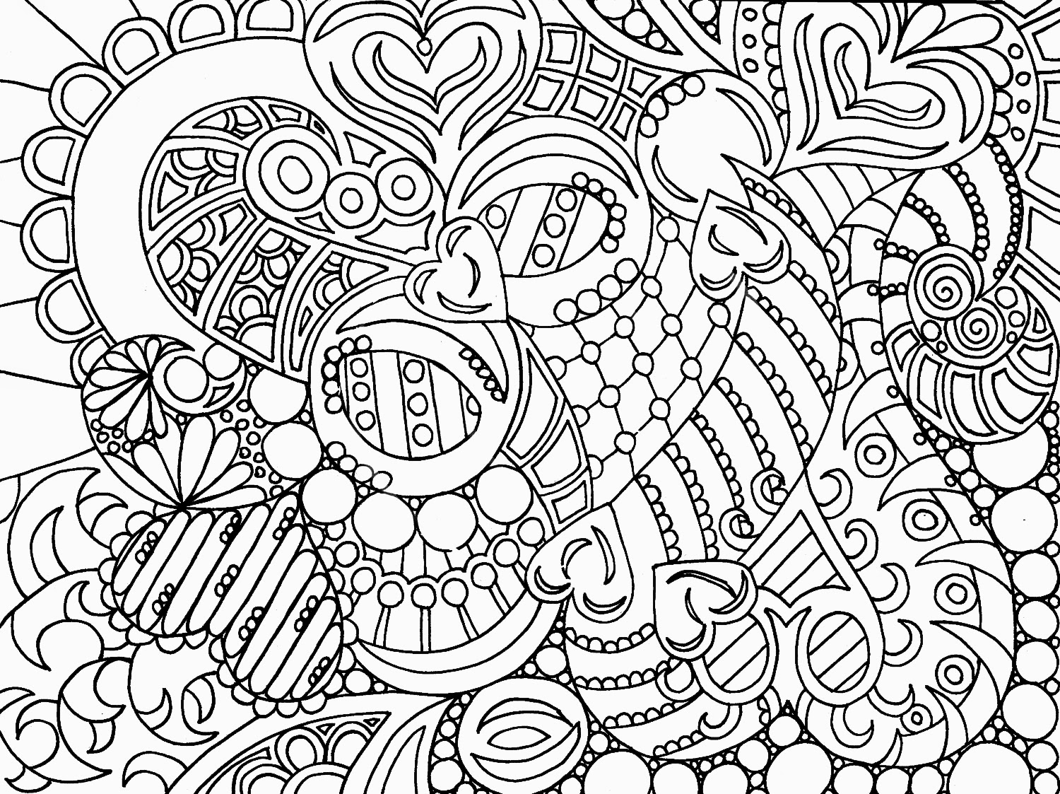 Ridiculous image within printable abstract coloring pages